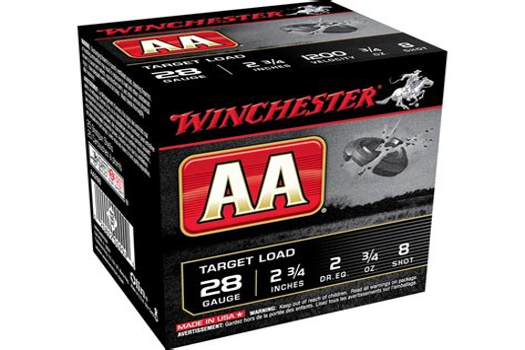 Winchester 28 Ga AA Target Load 2 3 4 3 4 Oz 8 Lead
