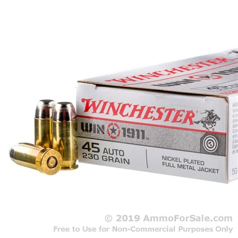 Winchester 45 Acp Ammo As Cheap As 25 Per Round