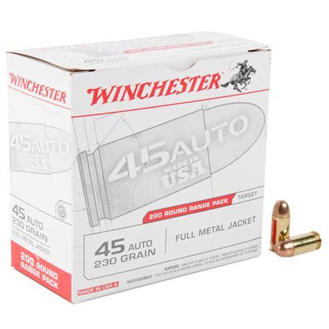 Winchester 45 Auto 230gr Fmj Ammo