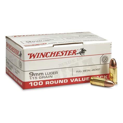 Winchester 9mm 115 Grain Fmj Ammo