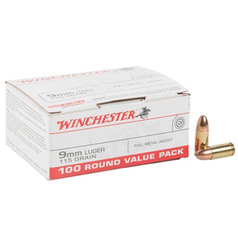 Winchester 9mm Ammo 100 Round Box
