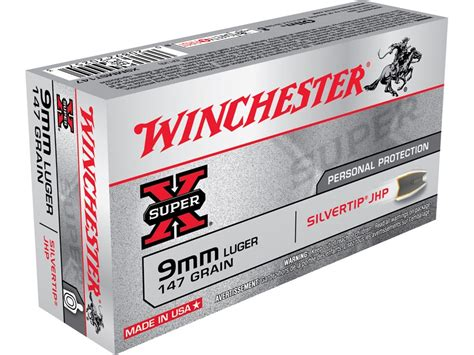 Winchester 9mm Hollow Point Ammo