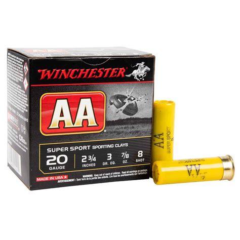 Winchester Aa Target Ammo 20 Gauge 2 3 4