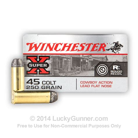 Winchester Ammo 45 Colt 250gr Lead Cowboy Actio For Sale