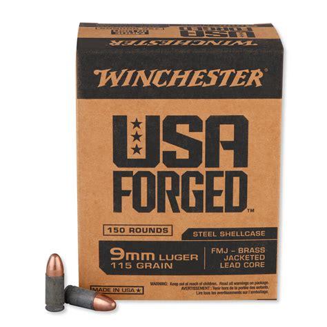 Winchester AMMO 9MM 115GR FMJ STEEL CASE 150 5