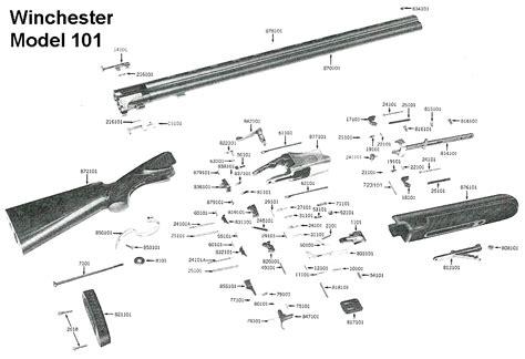 Winchester Gun Parts Model 101 Shotgun Parts Nuline