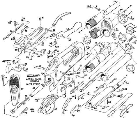 Winchester Model 1897 Shotgun Schematic