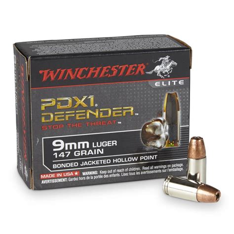 Winchester Pdx1 9mm Ammo
