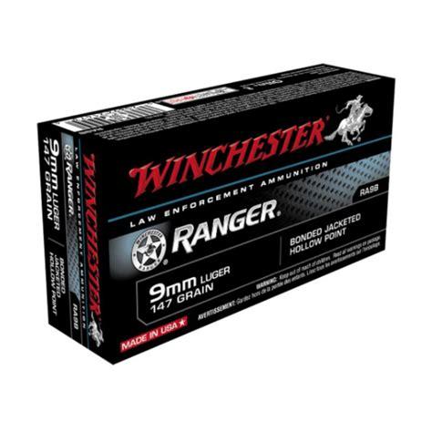 Winchester Ranger 147 Grain 9mm Bonded