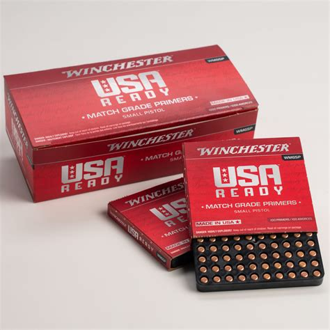 Winchester Small Pistol Primers 1000 Powder Valley