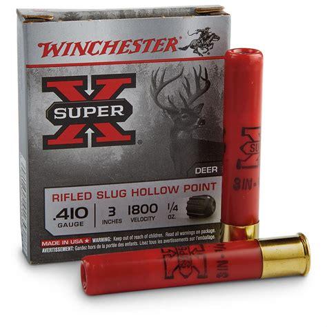 Winchester Super X Rifled Slug Ballistics