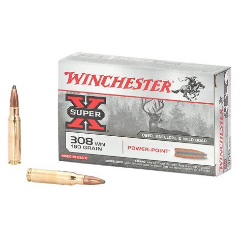 Winchester Superx 308 Caliber 180grain Powerpoint