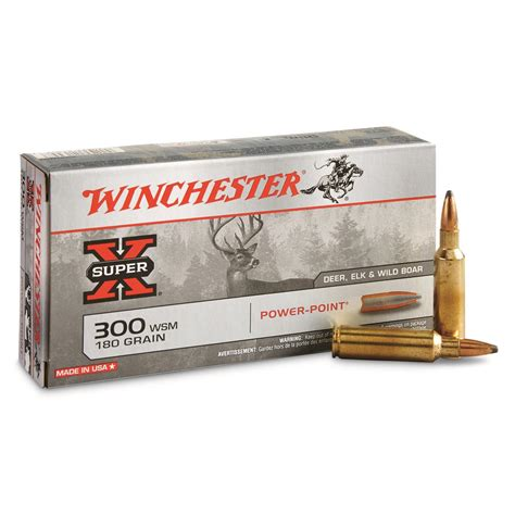 Winchester Superx Rifle Ammo 300 Wsm 180gr Pp