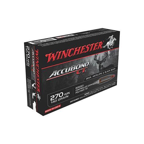 Winchester Supreme Accubond Ct Ammo 270 Winchester 140gr Bt 270 Winchester 140gr Accubond 20box