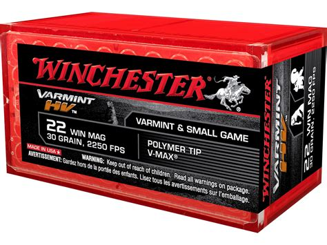 Winchester Varmint High Velocity Ammo 22 Winchester Mag
