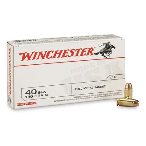 Winchester White Box 40 S W FMJ 180 Grain 50 Rounds