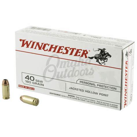 Winchester White Box 40 S W JHP 180 Grain 50 Rounds