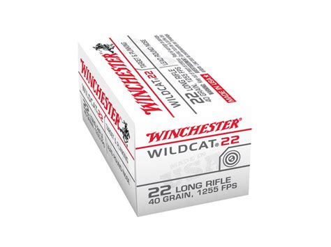 Winchester Wildcat 22 Long Rifle 40 Grain Lead Round Nose
