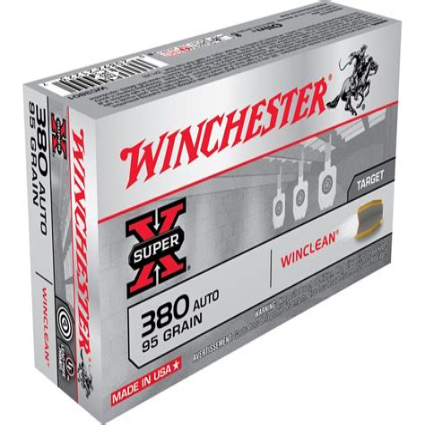 Winchester Winclean Ammo 380 Auto 95gr Beb Brownells