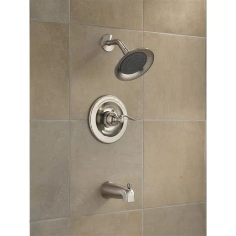 Windemere Pressure Balanced Tub and Shower Faucet Trim with Lever Handles and Monitor