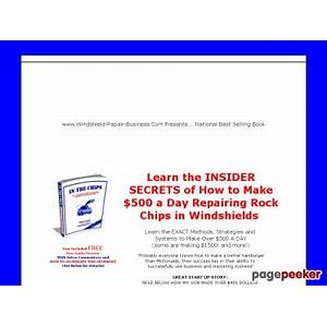 Windshield repair business com auto glass repair business marketing windshield repairs is it real?