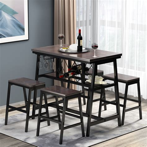 Wine rack dining table Image