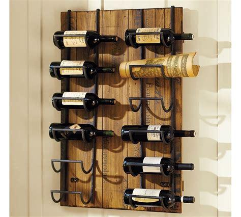 Wine rack on wall Image