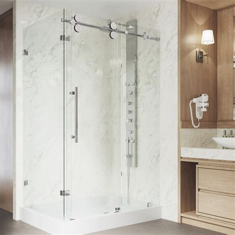 "Winslow 46.5"" x 79.87"" Rectangle Sliding Shower enclosure with Base Included"