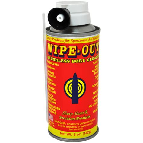 Wipeout Brushless Foaming Bore Cleaner 5 Oz Aerosol By
