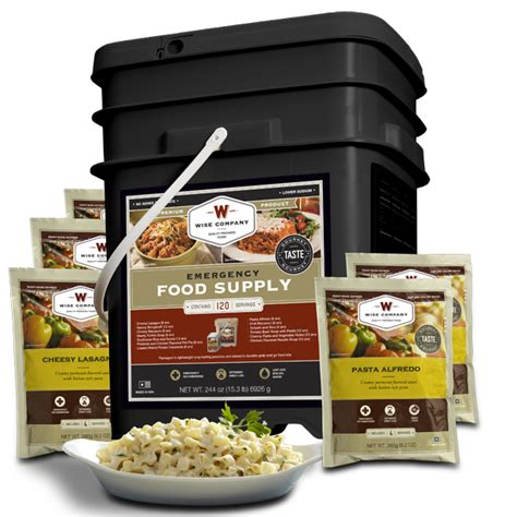 Wise Company 120 Serving Entree Only Grab And Go Bucket And Lapua Ammunition Components Graf Sons