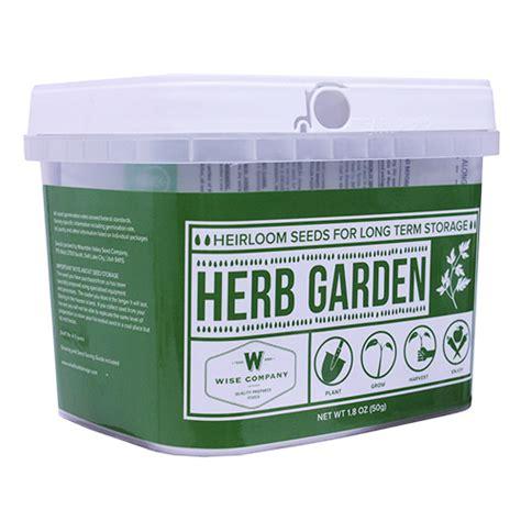 Wise Foods Herb Garden Heirloom Seed Bucket 01612mv