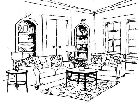 Wohnzimmer Malvorlage