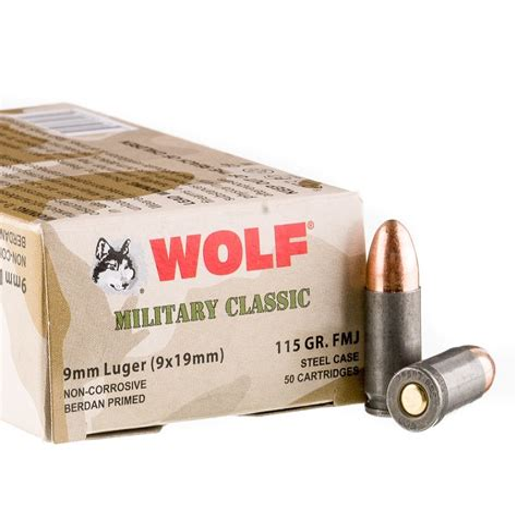 Wolf 9mm Ammo Specs