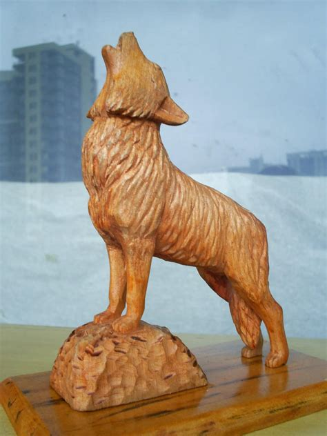 Wolf carving patterns woodworking plans Image