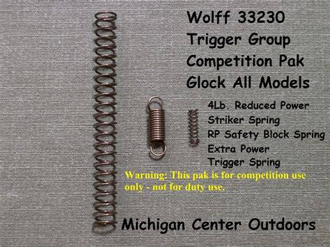 Wolff Glock Competition Spring Kit
