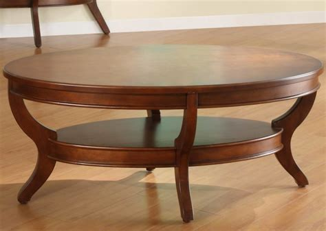 wood oval coffee table curved legs