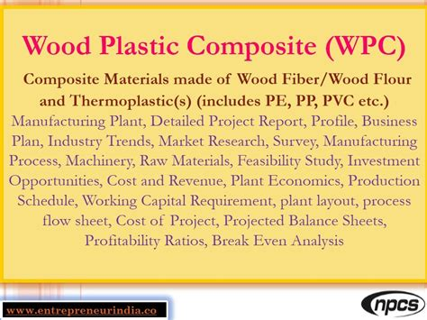 7) Wood Plastic Composite Manufacturing Project Report | 100% Money