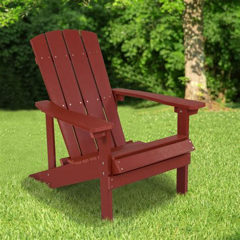 wood red adirondack chairs Image