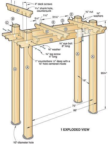 Wood arbor plans Image
