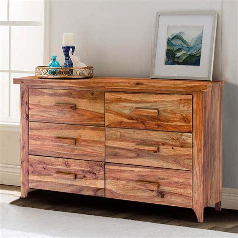 Wood bedroom dresser Image