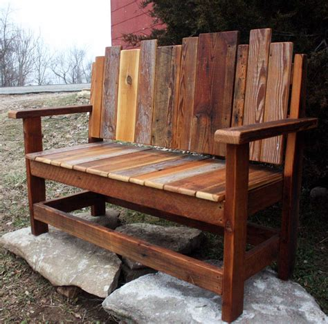 Wood bench designs Image