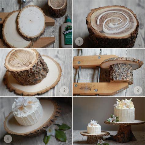 Wood cake stand diy Image