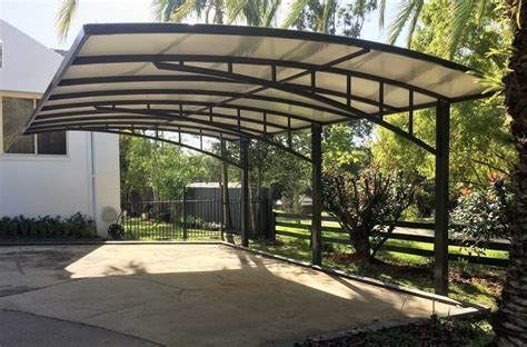 Wood cantilever carport design Image