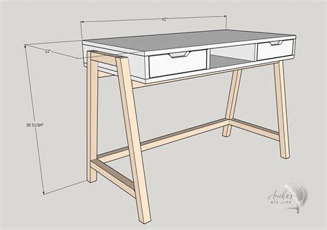 Wood desk plans diy Image