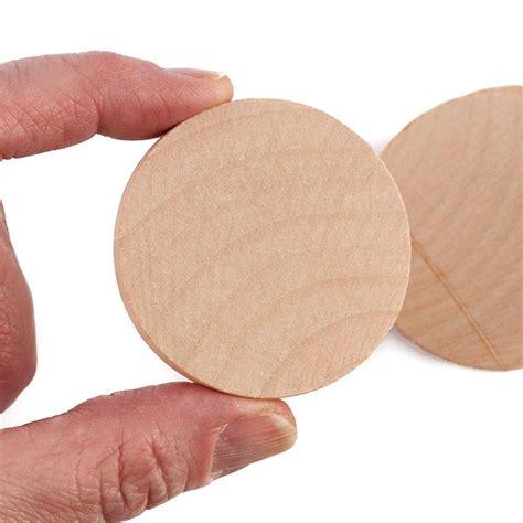 Wood discs bulk Image