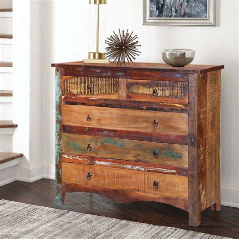 Wood dresser rustic Image