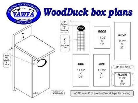 Wood duck house plans free Image
