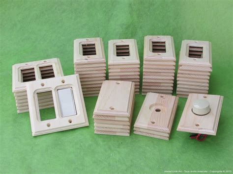 Wood electrical outlet covers Image