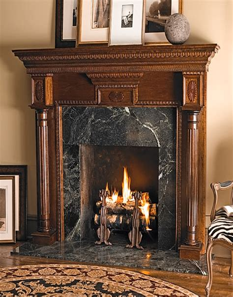 Wood fireplace mantel plans Image