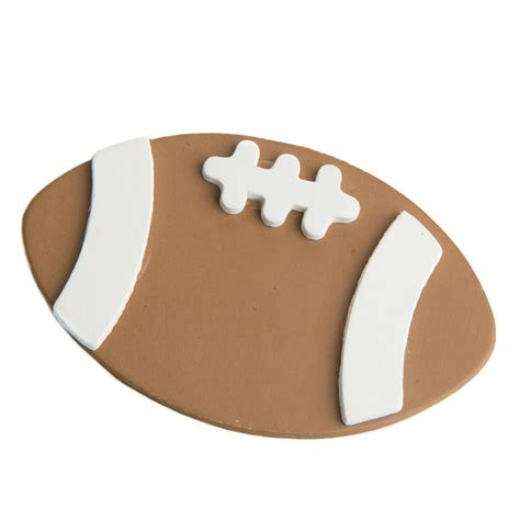 Wood football cutout Image